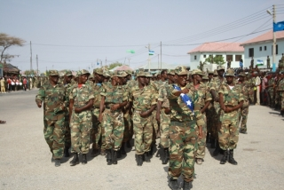 Puntland Troops on Parade for Anniversary