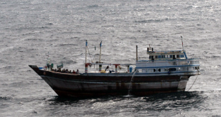 Iranian Fishing Dhow, Apparently Used by Pirates as a Mothership
